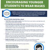 Encouraging younger students to wear masks