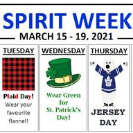 March Spirit Week!
